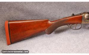 12 gauge A.A. Brown boxlock side by side shotgun