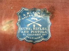 Alexander McComas, Gunmaker, Case Label