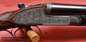 Holland and Holland Royal matched pair, 12 gauge, double barrel shotguns