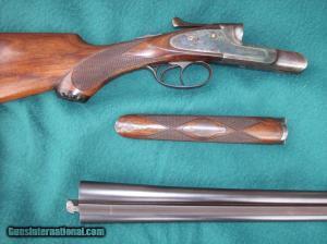 20 gauge H-grade Lefever side-by-side double barrel shotgun