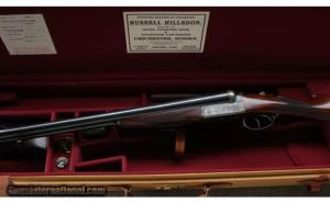 12 gauge Russell Hillsdon Double Barrel Boxlock Side by Side shotgun
