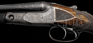20 gauge Parker AAHE Double Barrel Side-by-Side Shotgun, owned by Fred Gilbert
