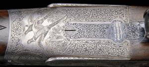 20 gauge E.J. Churchill Premier grade double barrel, side-by-side auction, Kell engraved