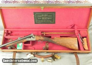 "ARMY & NAVY 12- SUPERB ORIG 1924 COND- 90% ORIG CASE COLORS- 28"" Bbls- WEBLEY ACTION"