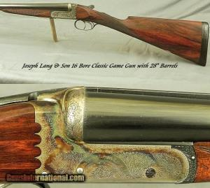 16 gauge Lang Boxlock Ejector Side-by-Side Double Barrel Shotgun