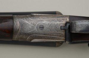 12 gauge Stephen Grant Double Barrel Shotgun with Sidelever, 1897