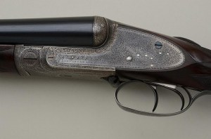 12 gauge Stephen Grant Double Barrel Shotgun with Sidelever, 1897