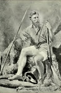 Frederick Courtenay F.C. Selous, Explorer, Hunter, with his 4 gauge percussion rifle
