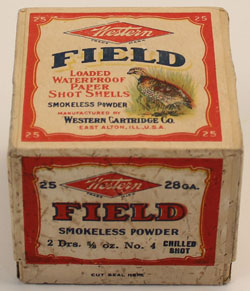 Western, FIELD, 28 GAUGE!, 2pc., FULL & SEALED, Shot Size 4
