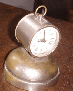 ORIGINAL PARKER GUN BELL CLOCK, click for listing