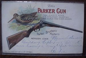 PARKER GUN ORIGINAL POST CARD, click for listing