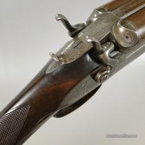 12g William Powell & Son, Double Barrel, Bar-in-Wood, Double Barrel Shotgun