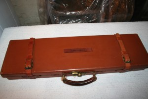 Genuine James Woodward & Sons leather Over Under Shotgun Case