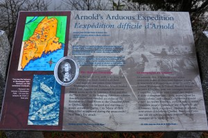 Arnold's Expedition to Quebec passed through this area...