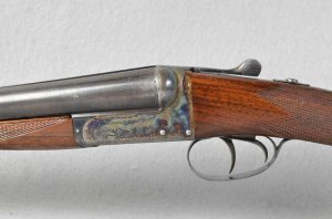 WEBLEY & SCOTT 12 GAUGE SIDE X SIDE SHOTGUN