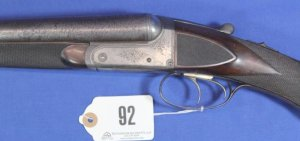 Wm R Schaefer Double Barrel Shotgun 12 ga