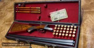 A.H. Fox Sterlingworth Deluxe 20ga SxS Shotgun. Cased, with original HANGTAG