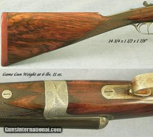 12 gauge J. MacNaughton & Sons, Edinburgh, #3558, Double Barrel Shotgun