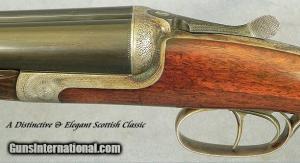 12 gauge J. MacNaughton & Sons, Edinburgh, #3558, Double Barrel Shotgun