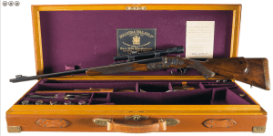 Cased Holland & Holland Engraved Royal Double Barreled Express Rifle in 300 H&H Flanged Cartridge Complete with all H&H Accessories and Factory Documentation