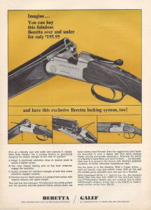 Old ad for Beretta's BL-grade over-under shotguns