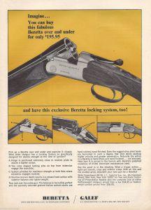 Old ad for Beretta's BL-grade over-under shotguns