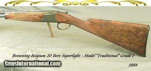 """Belgium Browning 20 Bore Superlight Made in 1984 with 26 1/2"""" Ejector Vent Rib barrels"""