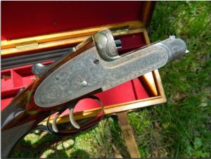 "C. G. Bonehill, Ltd., Birmingham. Magnificent prewar ""pinless"" sidelock double rifle in .450-.400, 3¼"" NE, ca.1920's"