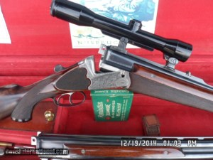 PETER MAHRHOLDT OVER/UNDER COMBO 2 BBL.MATCHING SET 30-06 / 12GA. CLAW MOUNT SCOPE ALL 98% COND. CASED