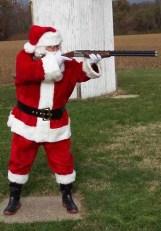 Santa taking a break from his duties