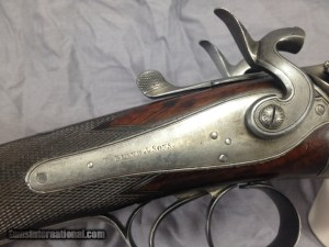 T. BLAND 12GA LONDON HAMMERGUN ANTIQUE SxS