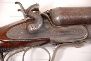 John Dickson & Son, 10 gauge Hammer (Under Lever) Shotgun