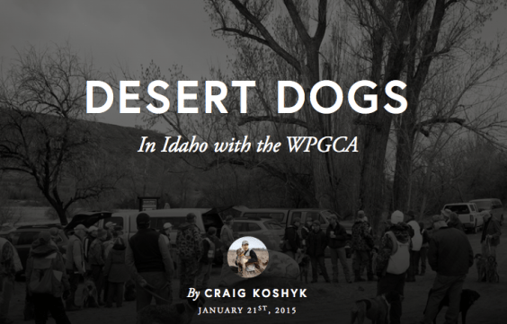 Desert Dogs: In Idaho with the WPCGA, by Craig Koshyk