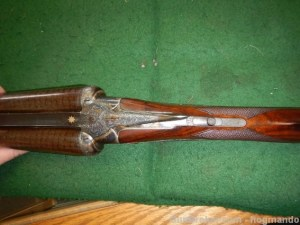 10g W. & C. Scott Excellentia Triple back action sidelock SxS shotgun, circa 1887