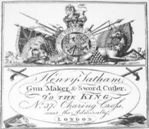 Henry Tatham, gunmaker, sword cutler to the King