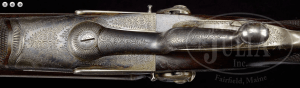 FINE ALEXANDER HENRY BAR ACTION HAMMER DOUBLE RIFLE MADE FOR J. LISTER
