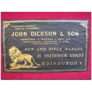 John Dickson & Son trade label, circa 1962. Pic courtesy Drake.net