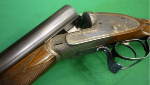 12g James Woodward & Son SxS Shotgun with a Purdey-patent thumbhole underlver