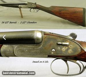 "HOLLAND & HOLLAND 16 SIDELOCK BADMINTON GRADE- GOLDEN ERA 1935- 26 1/2"" Bbls.- AN EXC & SOLID GAME GUN- ORIG. CASE"