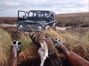 Grouse shooting, August 13, Yorkshire, UK