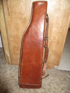 Vintage rare Holland (Mulholland) Leather 31 INCH Gun Case Leg-O-Mutton