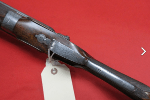 12g W. & C. Scott Premier hammergun, bar in wood