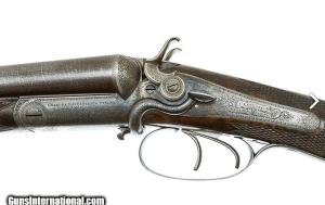 CHARLES LANCASTER BEST SIDELEVER HAMMER GUN 16 GAUGE