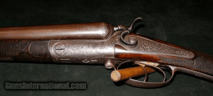 WILLIAM R. PAPE ISLAND SIDELOCK 12GA HAMMERGUN