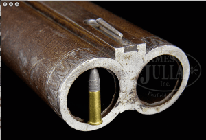 HUMONGOUS HOLLAND & HOLLAND FOUR BORE DOUBLE ELEPHANT RIFLE, From James D. Julia Auctioneers