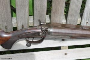 Reilly 8 Bore underlever hammer double rifle