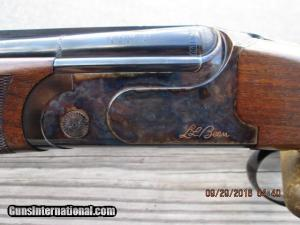 "SIG ARMS ""LL BEAN"" NEW ENGLANDER BY RIZZINI 20 GA. OVER/UNDER SHOTGUN AS NEW IN HARD CASE"