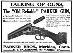 Parker shotgun ad
