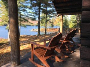 View from the front porch at Chandler Lake Camps