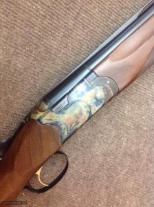 Beretta Custom 686, 12 gauge, OU, Italian Double, color-case hardened with straight grip stock